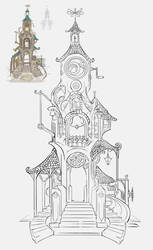 Clocktower Linework by Vermin-Star