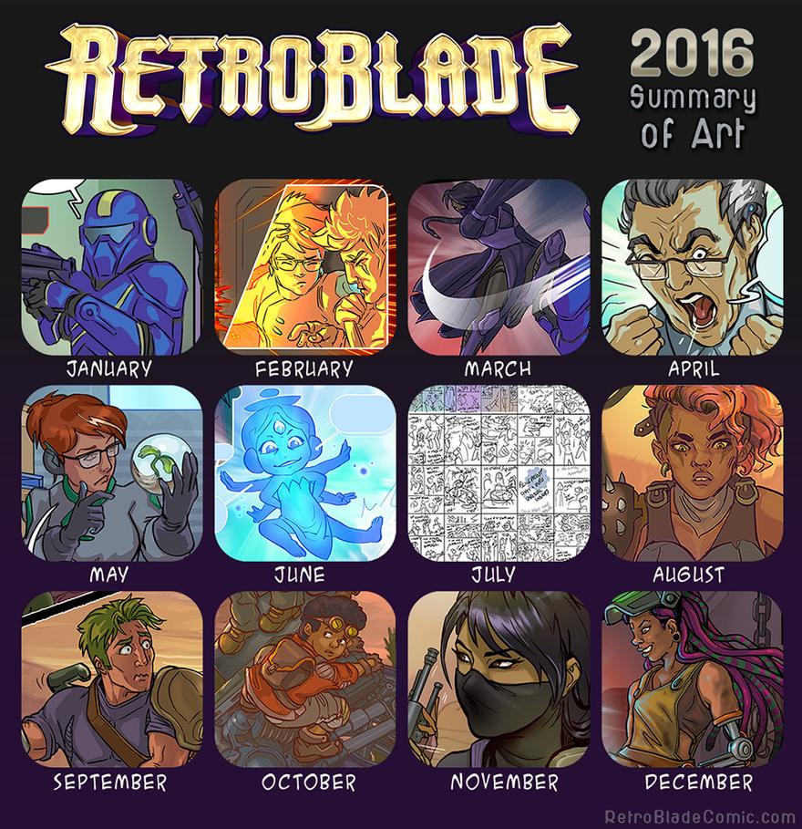 2016 Summary of Art- RetroBlade by Vermin-Star