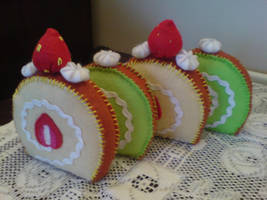 Felt: Cake slices by jeni-c