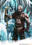 Kratos in the Frozen Throne of The Lich King by DaniSeik