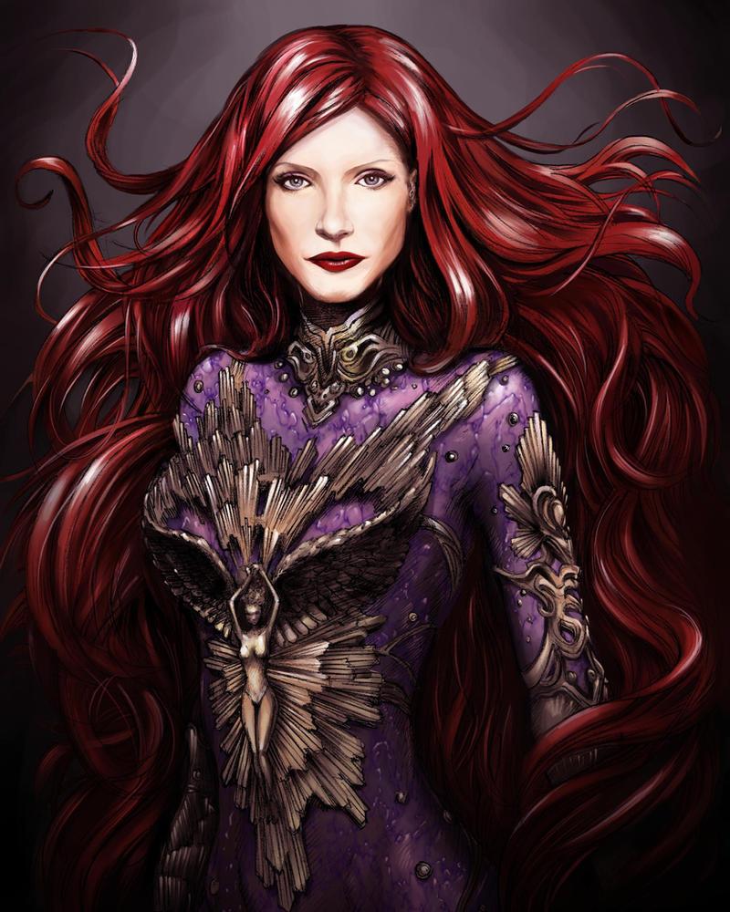 Jessica Chastain as Inhumans Medusa by darth-iskander on ...