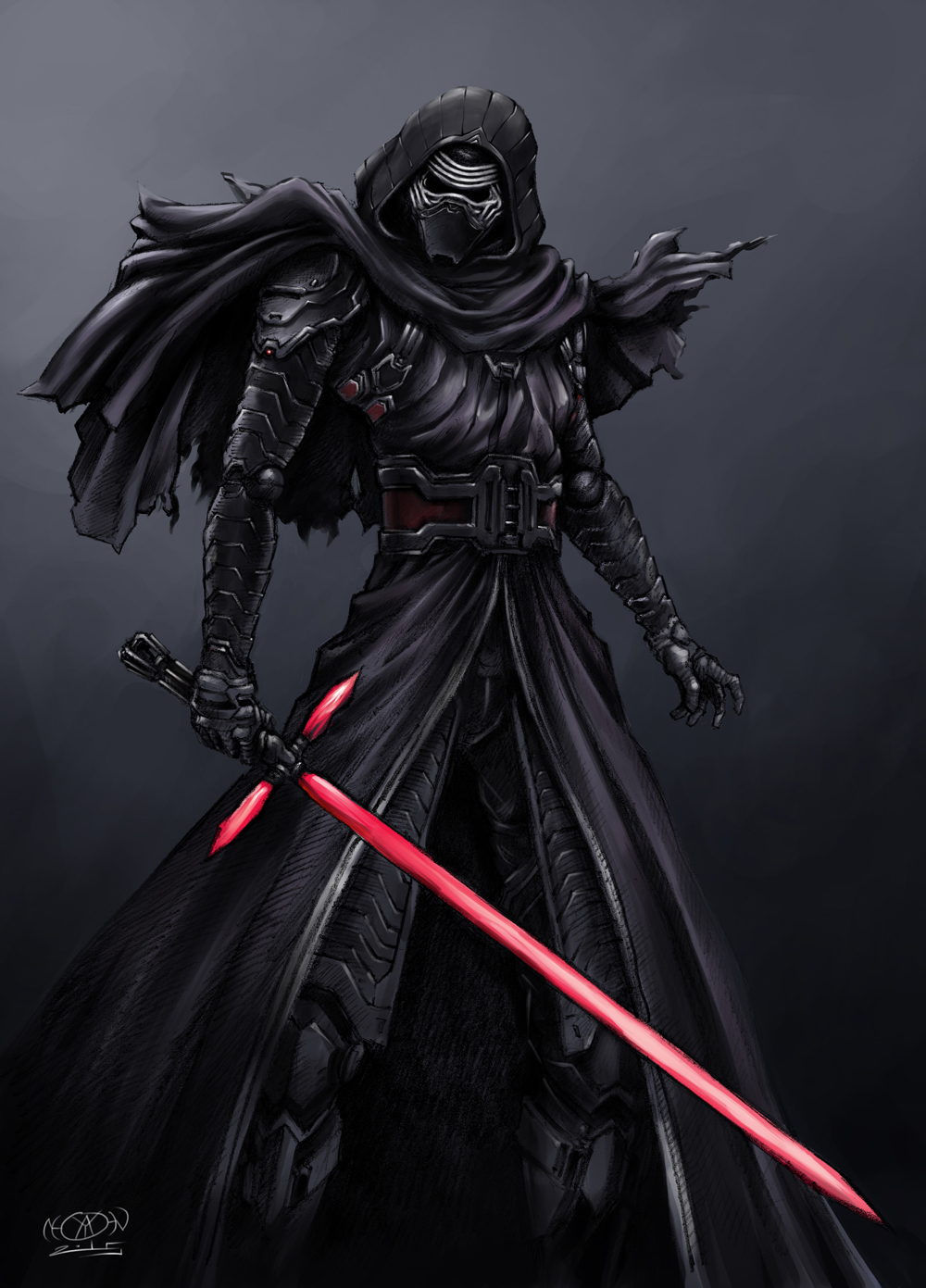 kylo ren play arts variant by darth iskander on deviantart. Black Bedroom Furniture Sets. Home Design Ideas