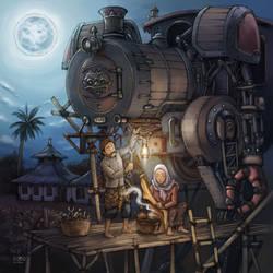 Javanese Steampunk Mecha