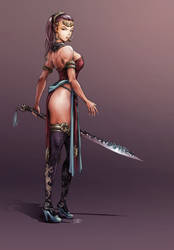 Mandau Warrioress