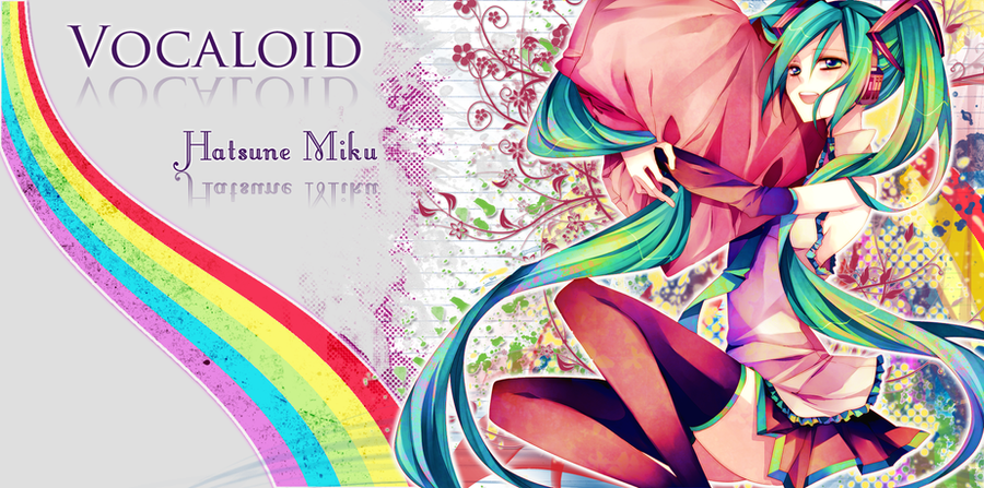 H.Miku Rainbow Wallpaper by neikoka