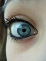 blue eye closeup by Compresso