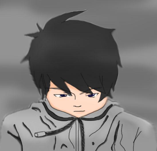 Anime guy jacket photo