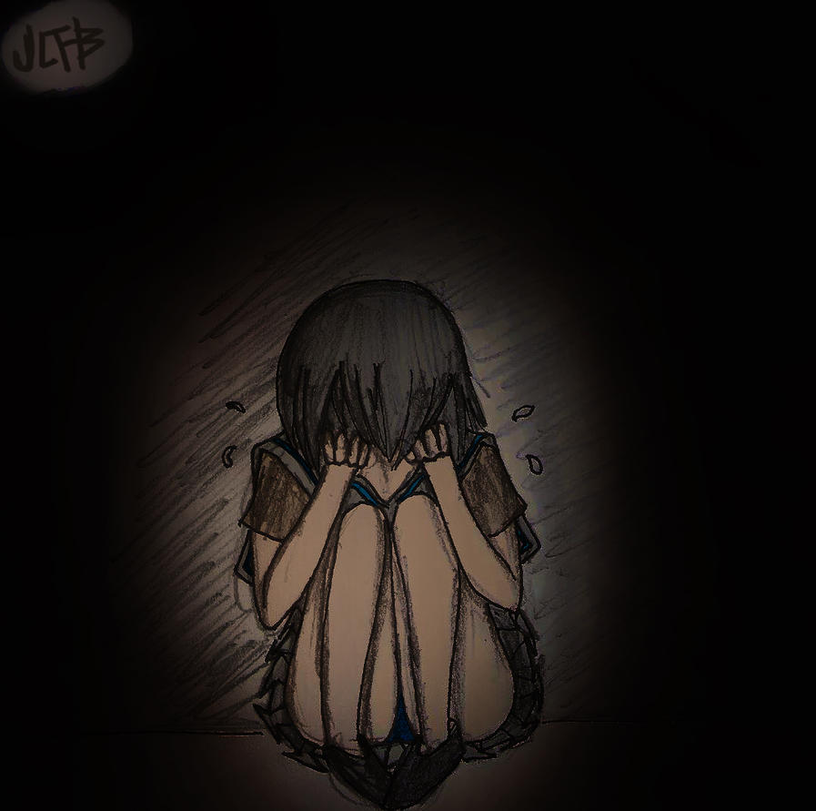 Anime Drawing: Crying by ineedpractice on DeviantArt