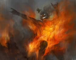man on fire by tobiee