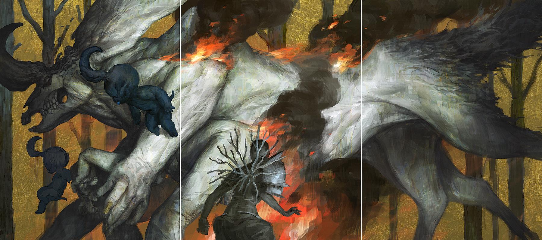 Motherland Chronicles #40 - firewalker by tobiee