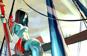 samurai girl by tobiee