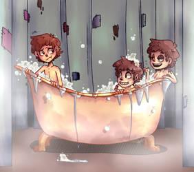 Bath time.............. by JinnyMoose