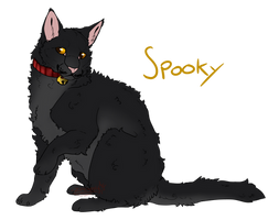 Spooky // Kittypet // Stagclan territory by Zincwolf