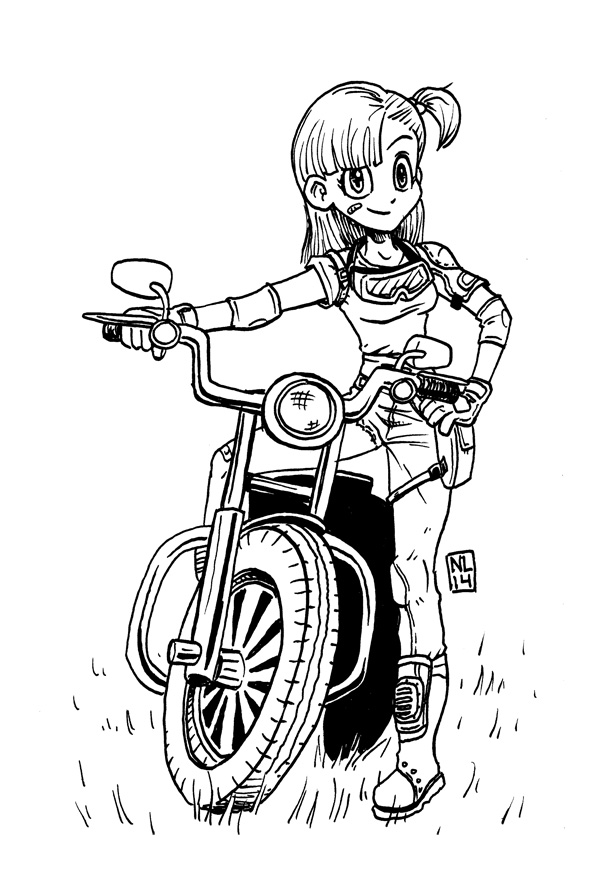 Inktober: Bulma Briefs by taneel