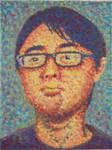pointillism self-portrait