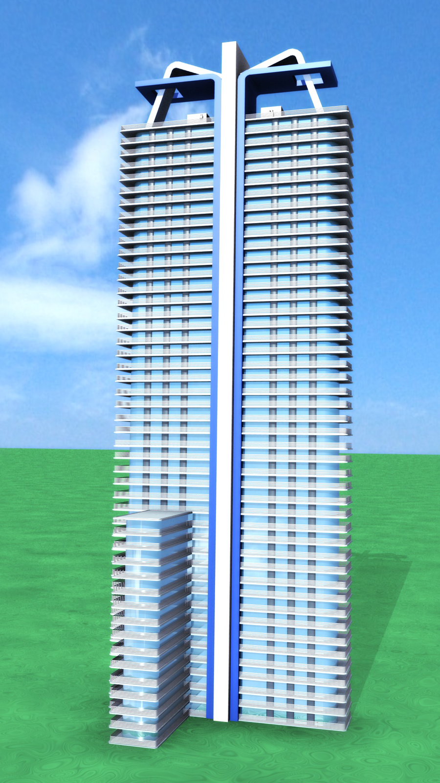 3d skyscraper wip by gookins on deviantart. Black Bedroom Furniture Sets. Home Design Ideas
