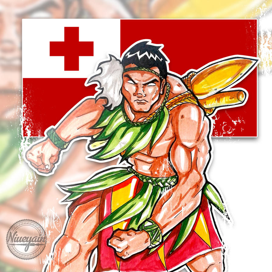 Tongan Warrior By Niueyain