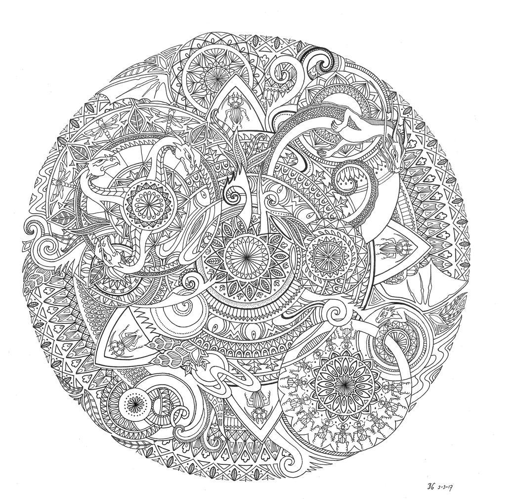 Dragon mandala by bgerr on deviantart - Mandala dragon ...