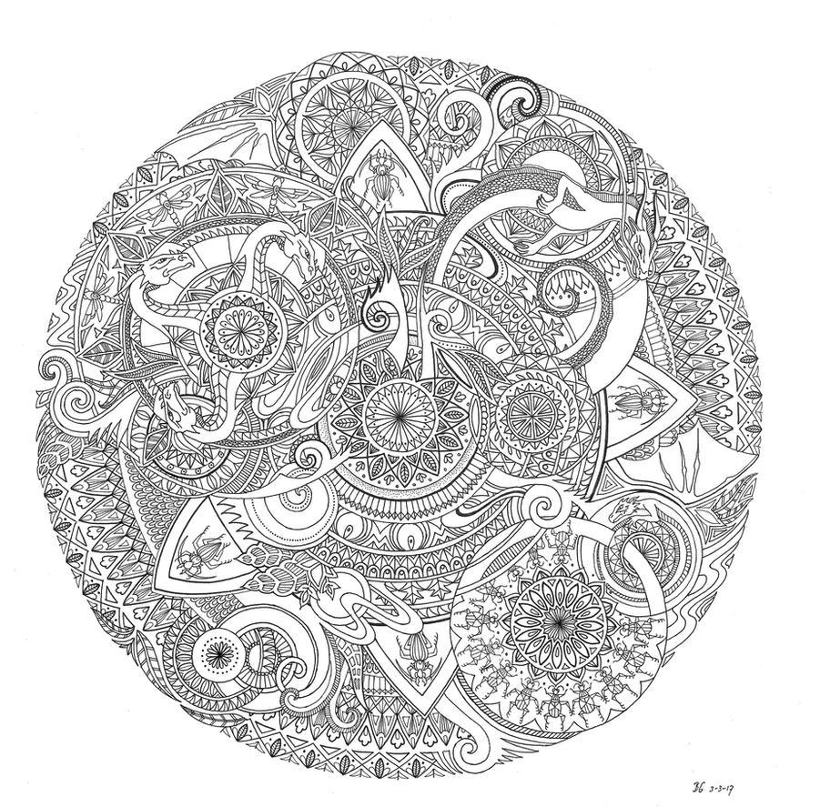 Dragon Mandala by bgerr