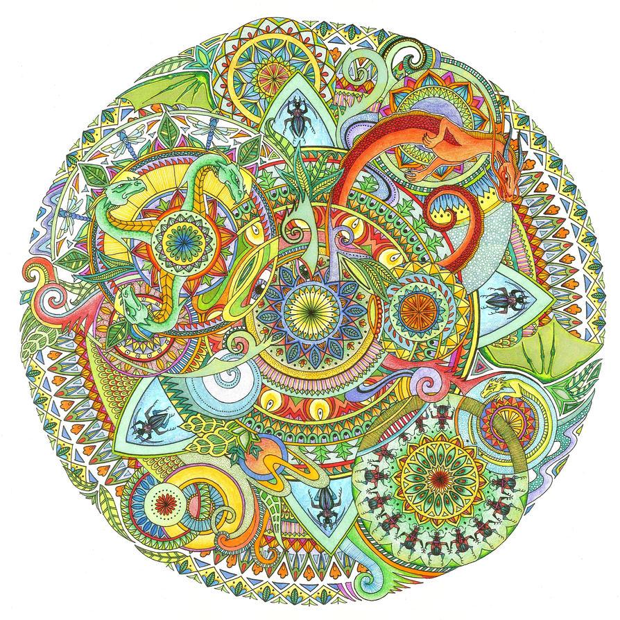Dragon mandala coloured by bgerr on deviantart - Mandala dragon ...