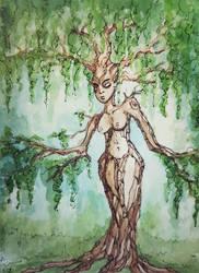 watercolour dryad 2 by bgerr
