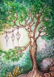 watercolour dryad  by bgerr
