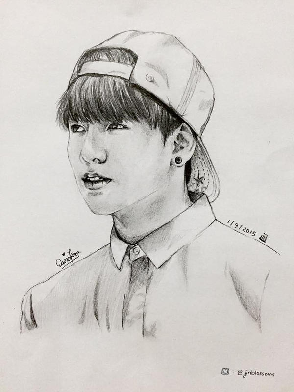 Jungkook Bts Drawings: BTS Jungkook Fanart By Jinblossoms On DeviantArt