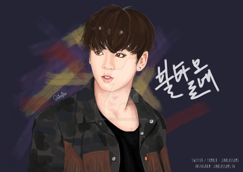 BTS Jungkook Fanart FIRE By Jinblossoms