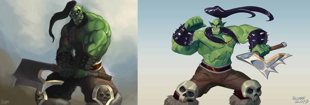And My Axe - 2012 vs 2017 by Enydimon