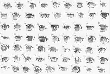 Anime Eye Styles 2016 by MikaLinCow