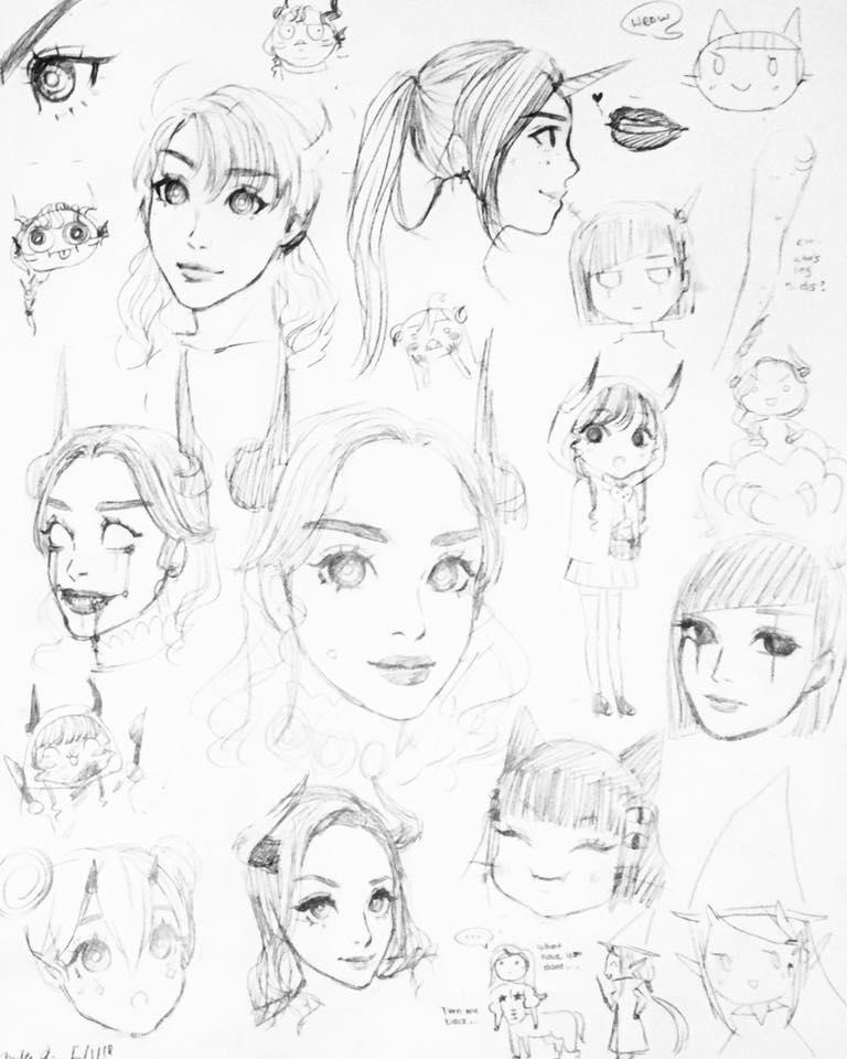 Random Demon Hybrid Sketch by MikaLinCow