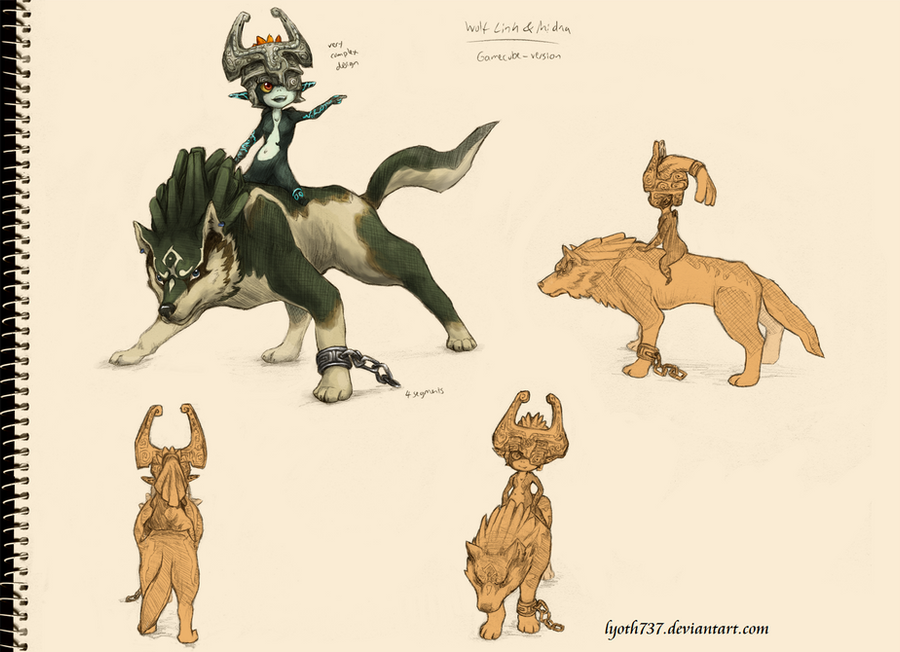 Study - Wolf Link and Midna by lyoth737