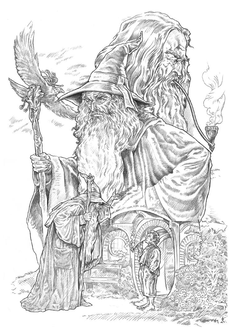 Lord of the rings gandalf free coloring pages for The hobbit coloring pages
