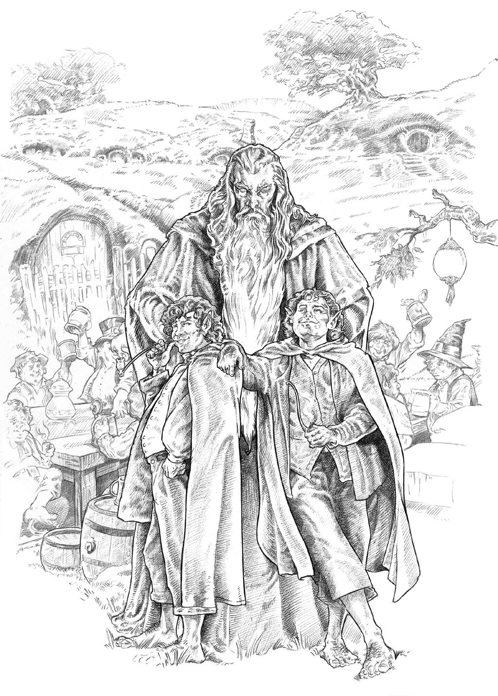 Pippin y merry by nachocastro on deviantart for Black hole coloring page