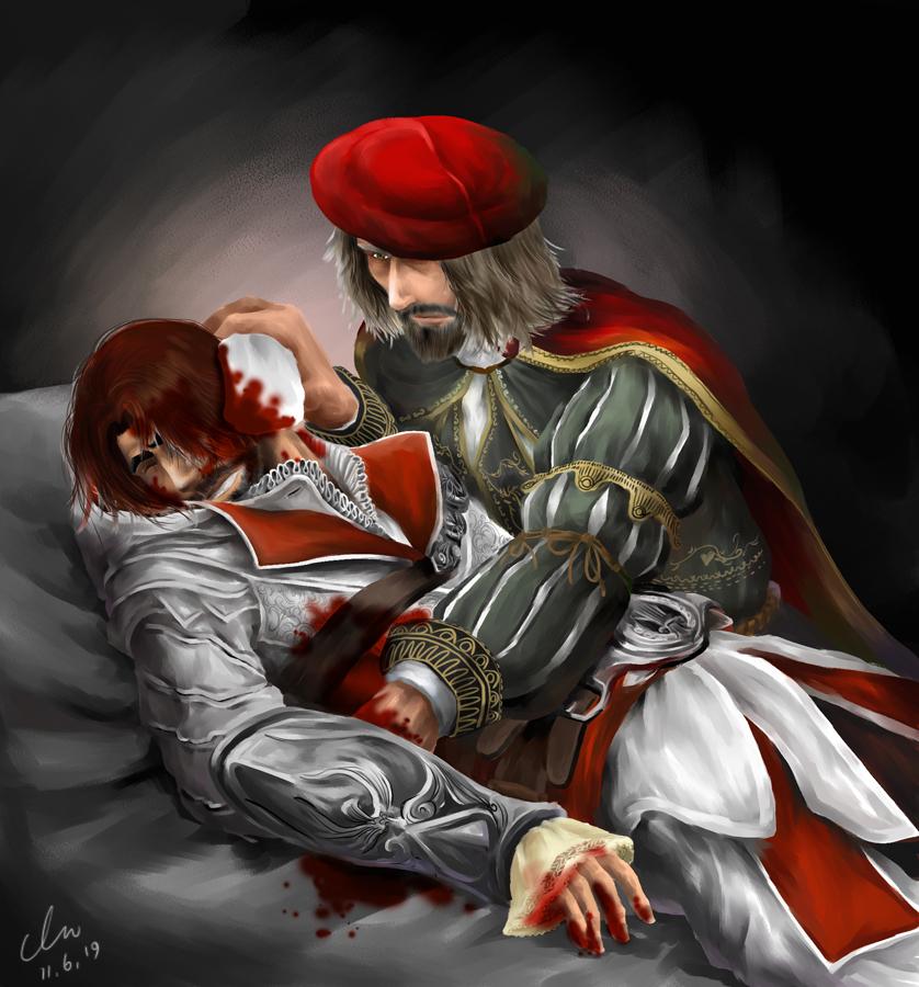 leo and ezio by hyunhon on deviantart