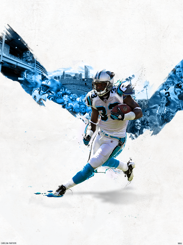 Carolina Panthers Large Art by incredible001