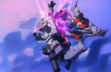 On Destiny's Blade - Megatron vs Starscream by GrungeWerXshop