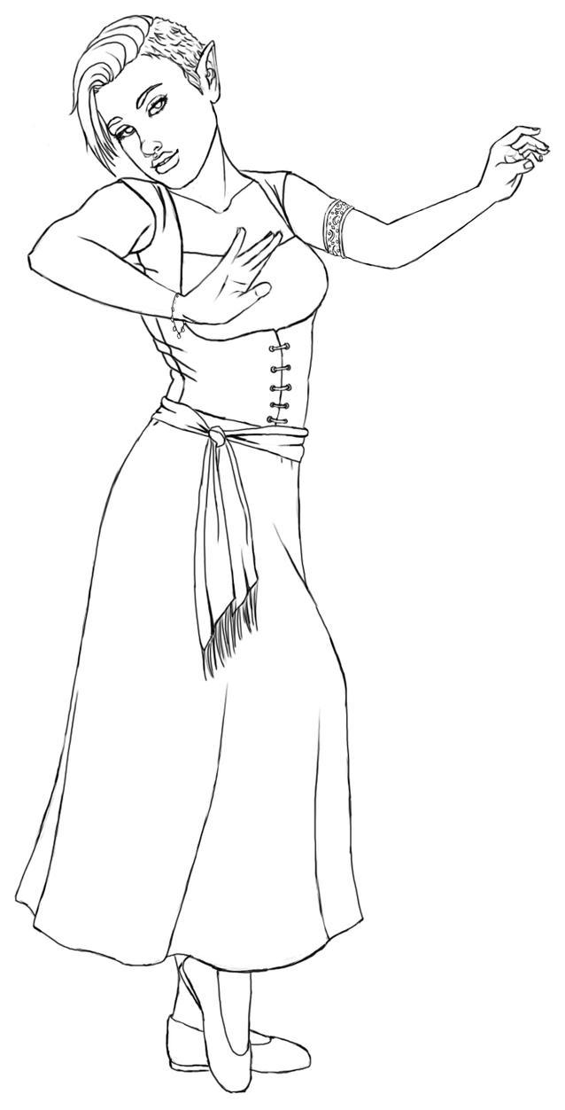 Dancer Shar Lines by boob-zilla