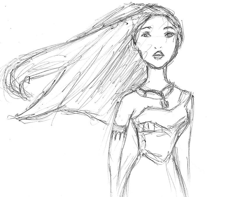 Pocahontas Sketch By Chericherry On DeviantArt