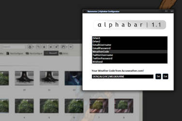 Alphabar 1.1 Configurator by redblackproduction
