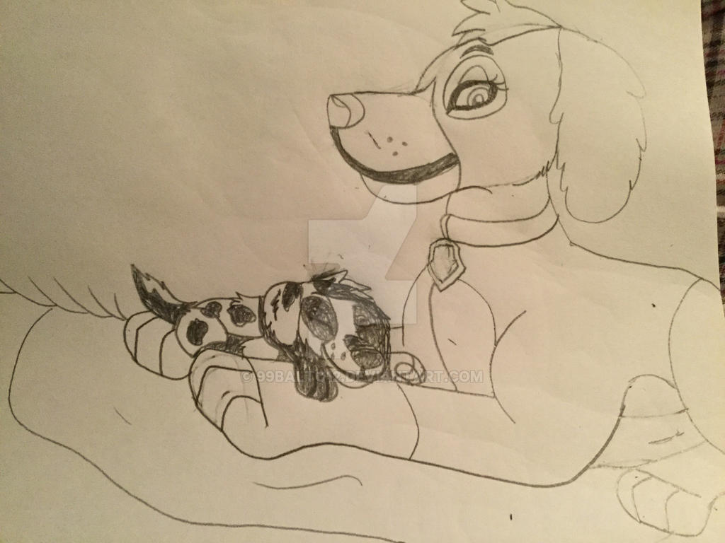 Skye with her younger son skylar by 99balto12