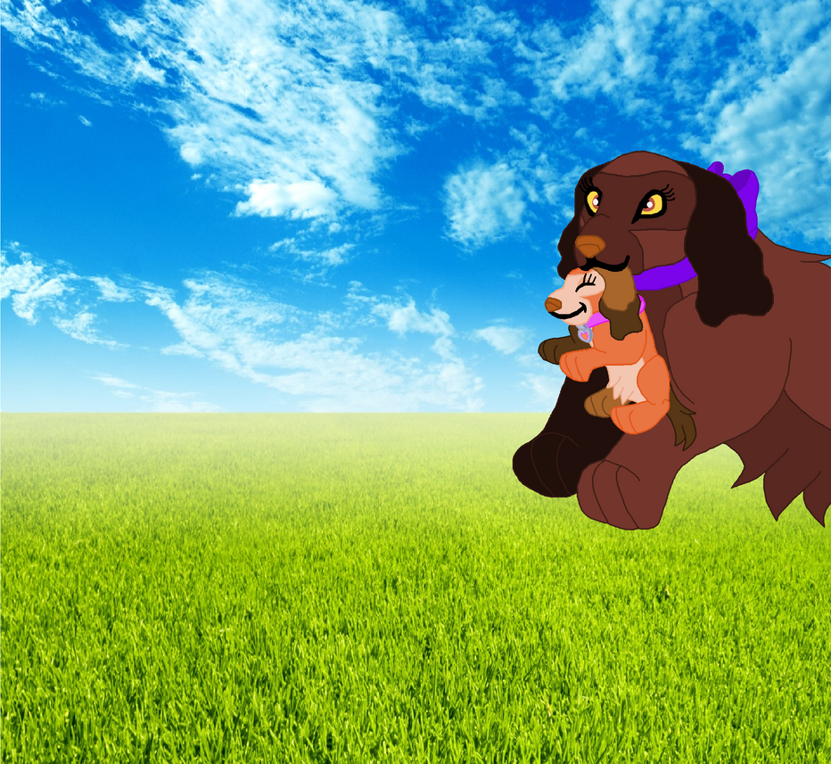 Cindy with her pup paula by 99balto12