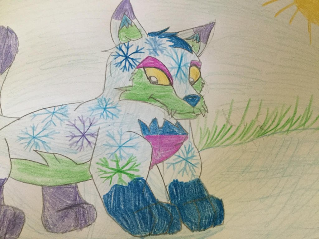 Neopet winter lupe can make it snow by 99balto12
