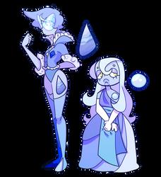 custom: blue agate and moonstone by garbagedeity
