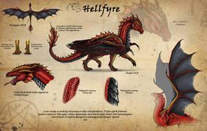 Fallen Dragon Ref-Sheet 666 by RedFyreDragon
