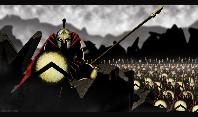 300 Spartans by RightHandOfDoom