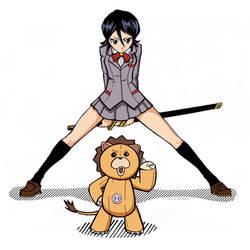 Rukia and Kon II by RightHandOfDoom