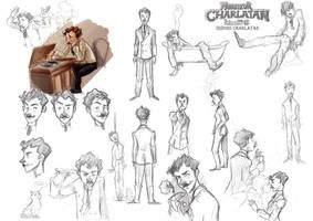 Model Sheet - Charlatan by DrSlug