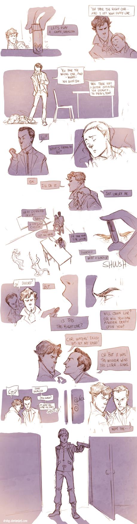 Teen Sherlock Bluebells Experiment Pt5 by DrSlug