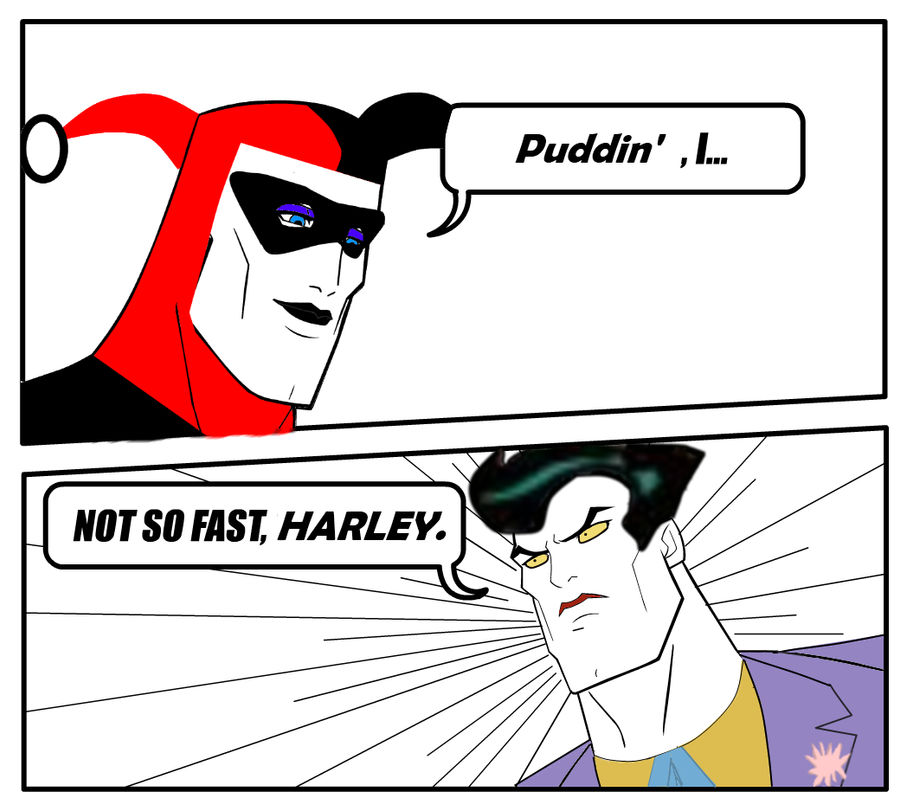 Handsome Face Meme Joker x Harley